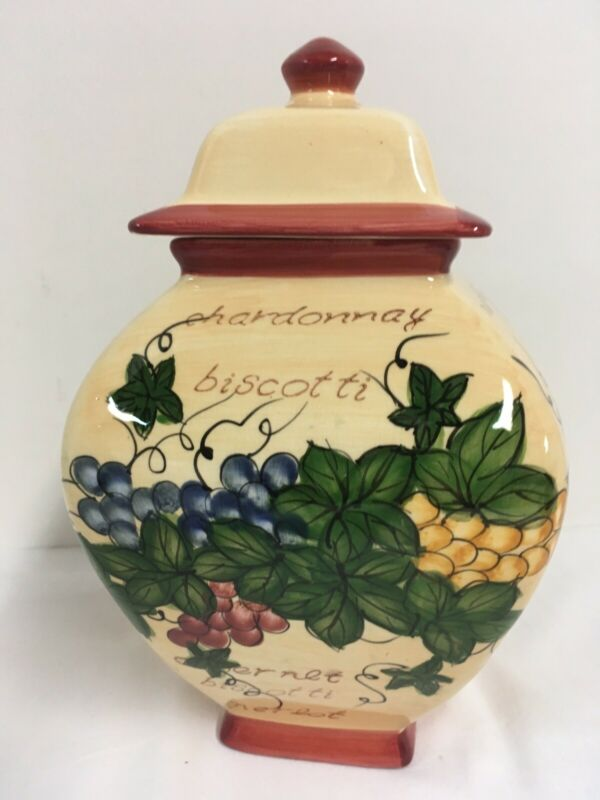 "Tuscan Style Nonni Biscotti Cookie Jar 9.5"" T"