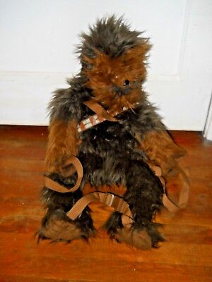 Star Wars Comic Images Chewbacca Wookiee Backpack Plush 29  Large Soft Adjustabl