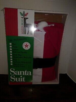 Best Santa Costume (Rennoc Santa's Best Christmas Suit Costume Size Vintage In Box)