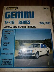 Car manual for Gemini and Cortina