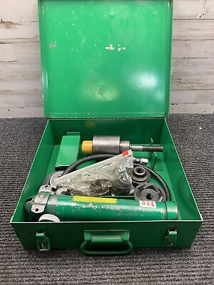 Used Greenlee 767 Hand Pump Knockout Punch Driver 746 With Other Accessorys