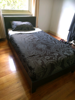 King single bed and mattress (must sell soon)