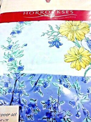 Single bed Blue Horrockses Frilled Quilt Cover,