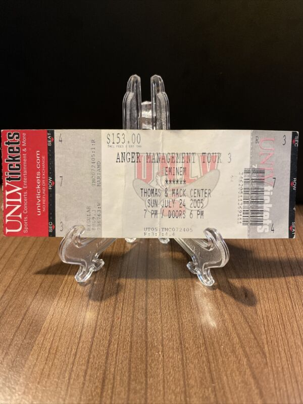 Eminem Anger Management Tour Concert Ticket Unused Vintage June 29 1990 at