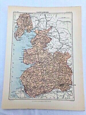 circa 1880s map of lancashire !  ( adam & charles black )