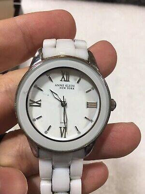 Anne Klein New York 12/2109WTWB White Ceramic Dress Women's Watch  $250