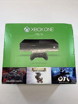 Genuine Microsoft Xbox One 1TB Black Console Model 1540+3 Games New