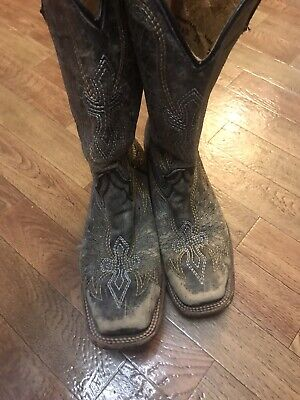 Corral Youth Girls Square Toe Boots Size 2 1/2