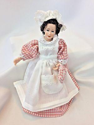 Dollhouse Miniature Heidi Ott Jointed Woman Doll Maid X012 1:12 Scale