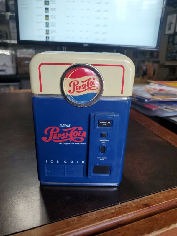 Vintage 1996 Pepsi Coin Sorter Vending Machine Plastic Bank