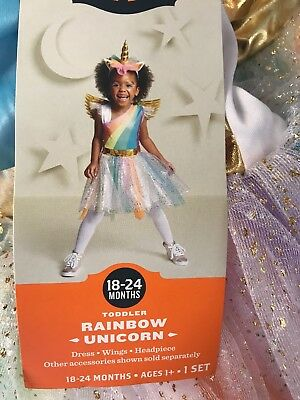 ff1585998ceb NEW Target Hyde and Eek! Rainbow Unicorn Toddler Costume - Size 18-24 Months