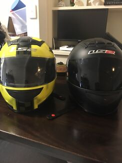 LS2 MOTORCYCLE HELMET x 2