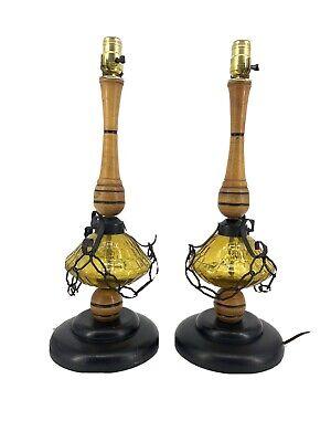 Lamps Vintage Wood Vatican, Vintage Wood Oil Lamp Holder
