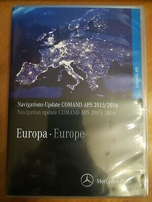 DVD Navigation Mercedes COMAND APS  Europa 2016  A B C G M R GL CLK KLASSE NTG2
