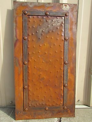 Rustic Iron Hammered Metal Panels-18x34-Handmade-Rust Finish-Furniture -