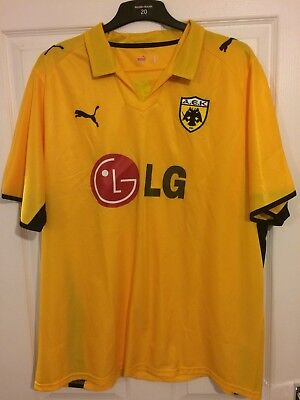 2008/2009 AEK Athens home football shirt Puma Greek Greece XXL men's image