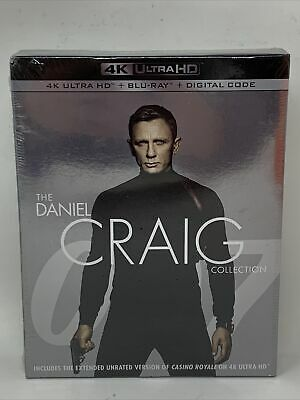 THE DANIEL CRAIG COLLECTION James Bond 007 New UHD 4K Ultra HD + Blu-ray Spectre