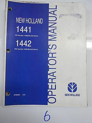 New Holland Tractor Operators Owners Discbine Manual 1441 1442 Transporter