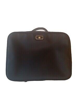 Kate Spade Travel Cosmetic Bag DAWN  Nylon Case Black New missing tag