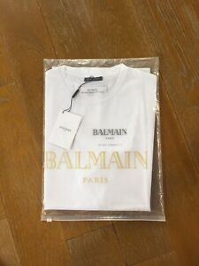 Balmain Paris men's size large white tee (New)