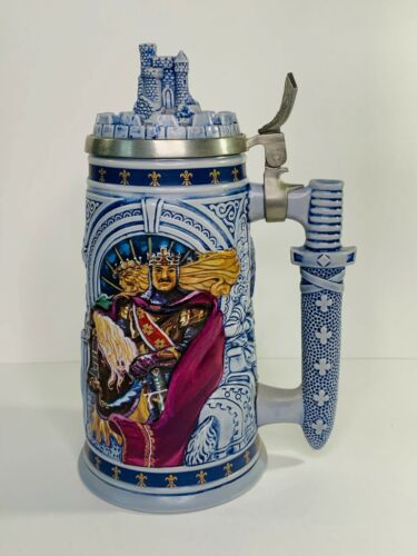 Vintage Avon Knights of Realm Beer Stein Handcrafted Castle King Celtic Warrior
