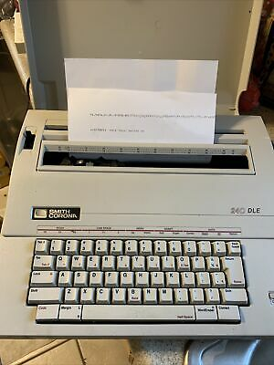 Smith Corona Portable Electric Typewriter 240 Dle With Cover - Tested Works Well