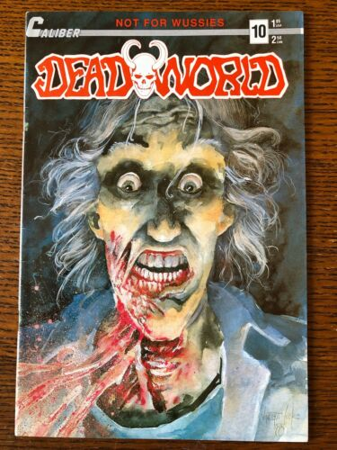 Deadworld #10 Gore Variant Cover | 1st Appearance of The Crow on Back Cover Ad!