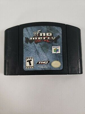 WWF No Mercy Wrestling Authentic OEM Genuine N64, TESTED AND WORKING!