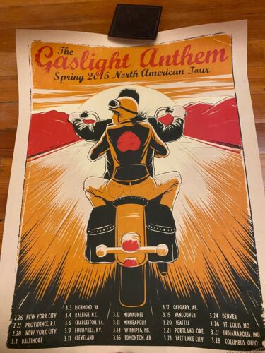 GASLIGHT ANTHEM 2015 North American Tour Poster Brian Fallon