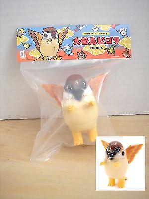 "Konatsu Sparrow Pigora Japan 3.25"" Sofubi Vinyl Bird Kaiju NIB Konatsuya"