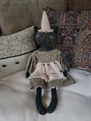 Pocket Annie /& Her Cat Midnight Primitive doll