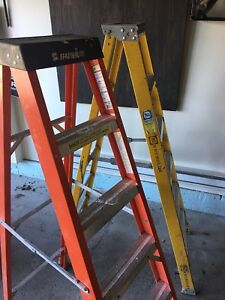 Two(2) Ladder 6' featherlight type.