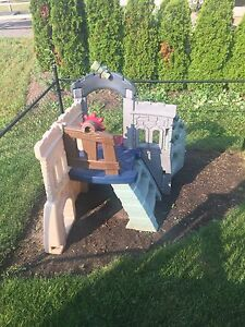 Play structure (pirate ship) teeter totter