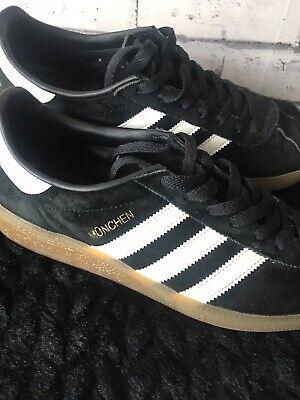 adidas munchen, black, size 7