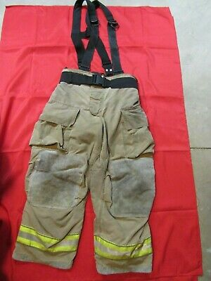 Mfg. 2011 Globe Gxtreme 36 X 28 Firefighter Turnout Bunker Pants Suspenders