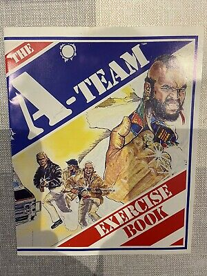 VINTAGE A-TEAM EXERCISE BOOK - UNUSED - Excellent Condition - 1983