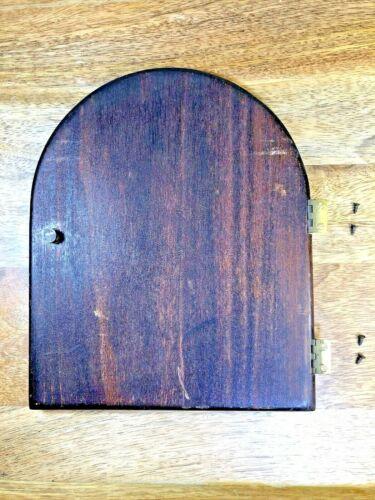 Old Mantle Clock Wooden Back Door  6 5/8 X 8 Inches (Clock Door Lot K5652)