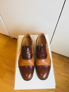 MINT BRITISH LOAKE LEATHER DRESS SHOES SIZE 7-8 mens / 9 womens