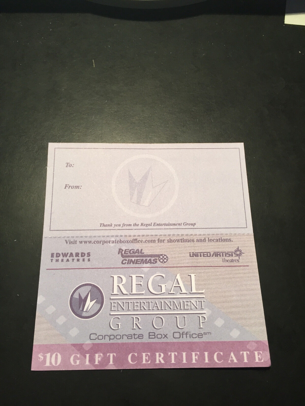 10 Regal Movie 10 Paper Gift Cards Good 4 Admission Tickets Passes Concession. - $73.99