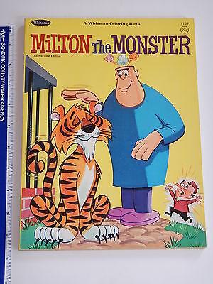 RARE 1966 MILTON THE MONSTER  WHITMAN COLORING BOOK UNUSED