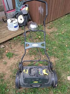 Yardworks battery operated lawn mower