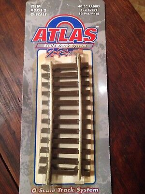 Atlas 7011 O Scale Train Track 40.5 Radius 1/3 Curve 2 pack 2 Rail NEW, used for sale  Litchfield