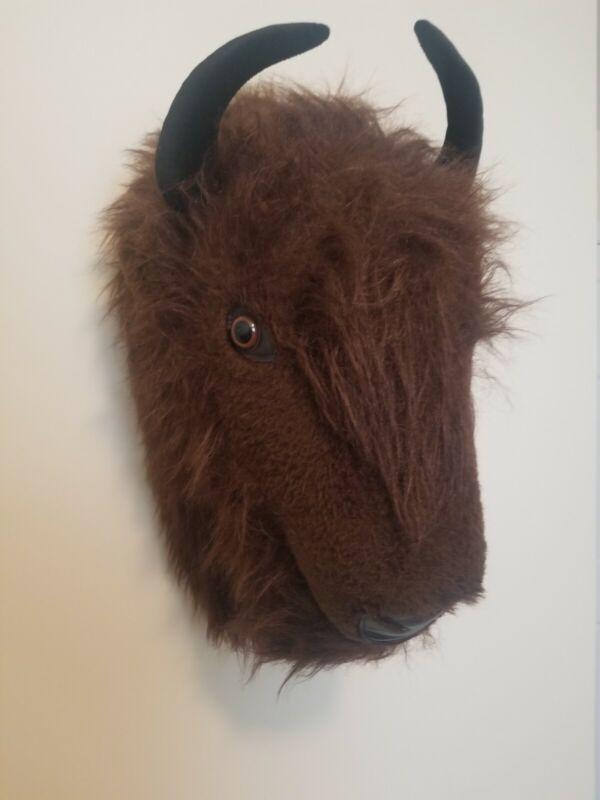 Big Game Trophies Stuffed Bison Puppet / Head Mount