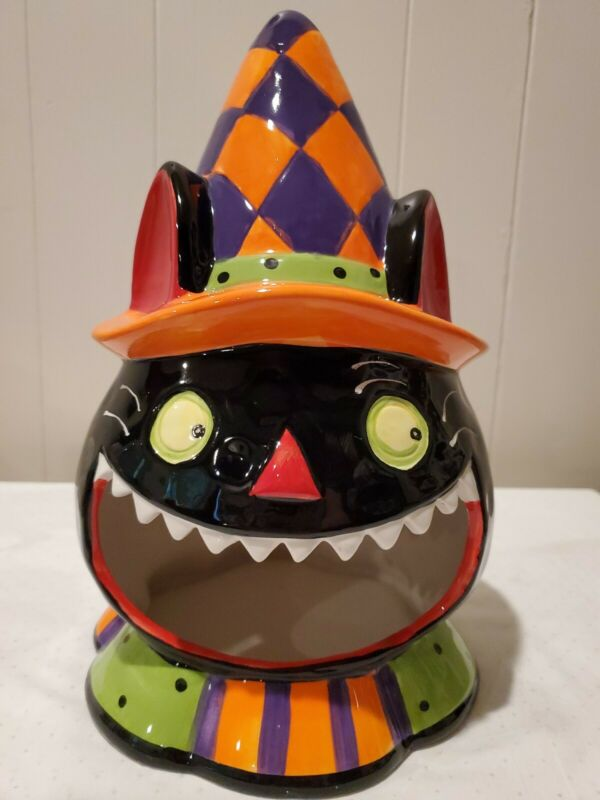 Halloween Colorful Party Cat Candy Dish