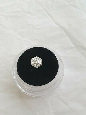 Hexagon Cut Moissanite 6mm loose stone diamond step cut white for ring