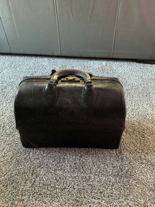 Antique Emdee by Schell  Leather Dr. Tool Duffle Messenger Bag