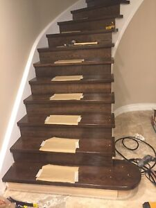 Stairs Recapping Refinishing Spindles Post installation
