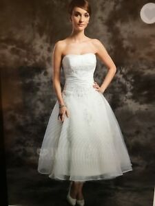Wedding Dress sz 16 strapless - white- never worn