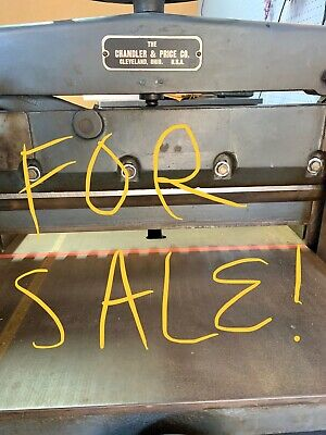 Chandler Price 19 Manual Guillotine Paper Trimmer With Base Great Condition