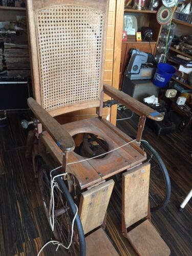 Oddities Wheelchair Antique Wicker